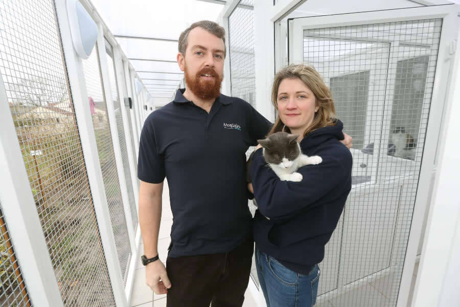 Lucy & Chris Woodall of Mog Cabins Cattery